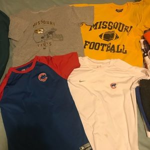 Youth Cubs and Mizzou Football Shirts